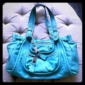Teal b makowsky bag